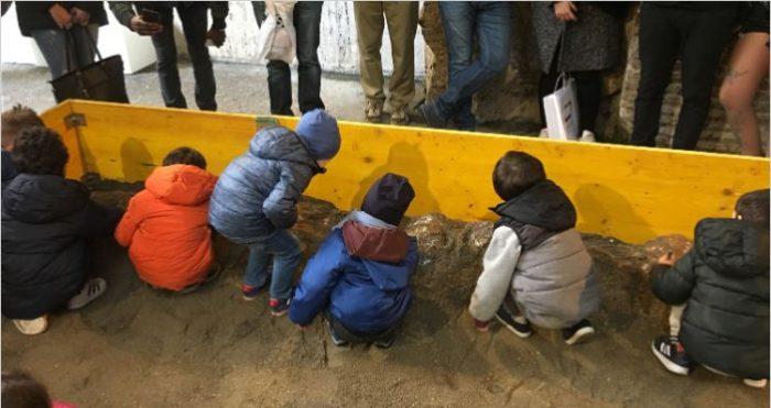 scavi fossili dinosauri laboratori stadio domiziano