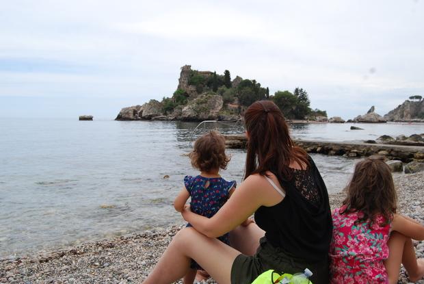 Isola Bella con i bambini