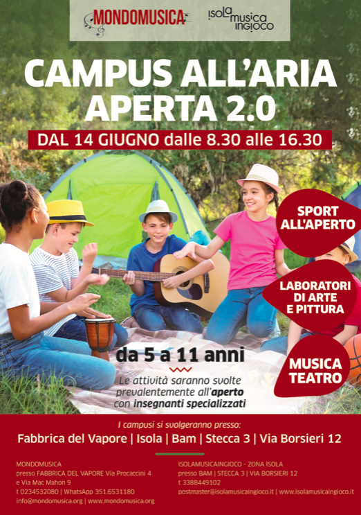Campus estivi a Milano 2021